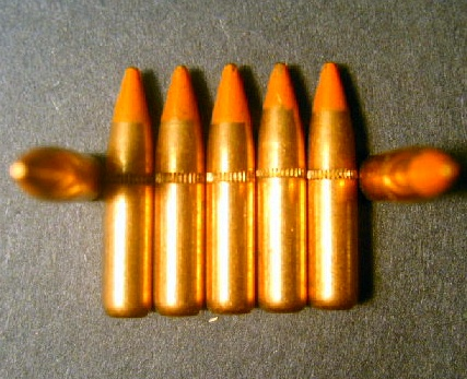 .223 cal. Lake City 62gr. M-856 Tracer Hand-Pulled (250ct.)