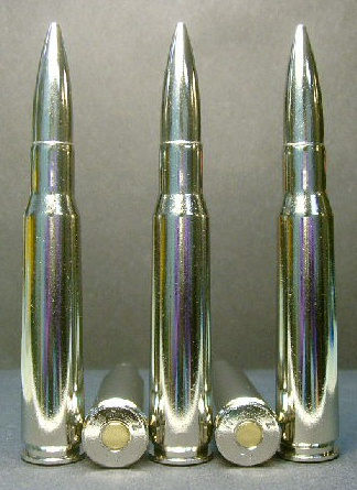 .50 BMG cal. M-33 Heavy Ball - All Nickel (10ct.)