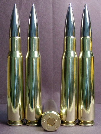 .50 BMG cal. 750 gr. Military Match - Nickel Tip (10ct.)