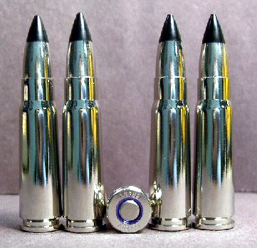 7.62x39mm Lapua ALL NIckel Black-Tip Steel-Core Ammo! (20ct.)