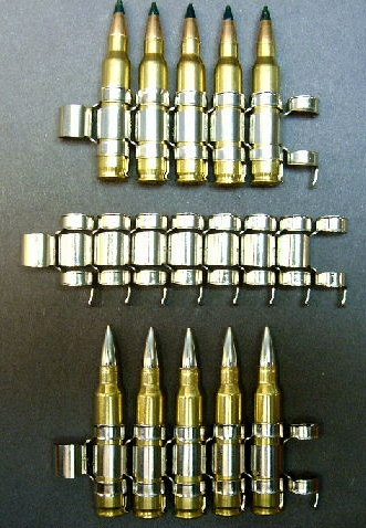 .223/5.56mm, M-27, Nickel Plated Machinegun Links (100ct.)